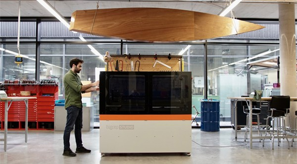 BigRep 3D printers in workshop image