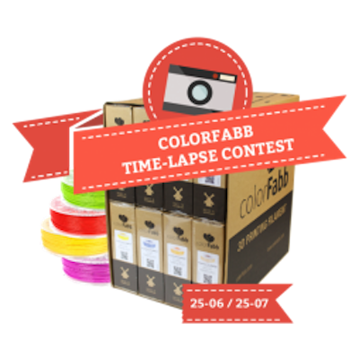 3D printing timelapse ColorFabb competition image