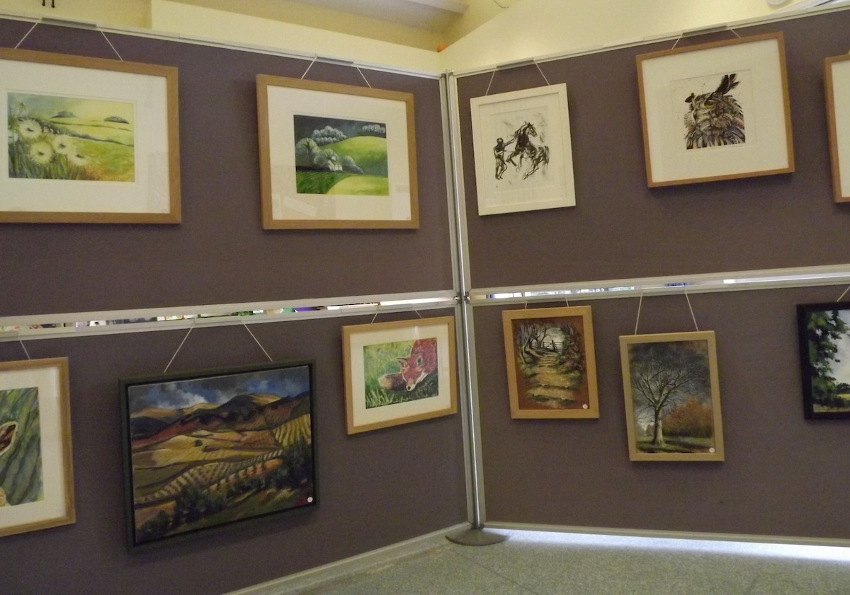 Nettlebed Art Society Exhibition Stand