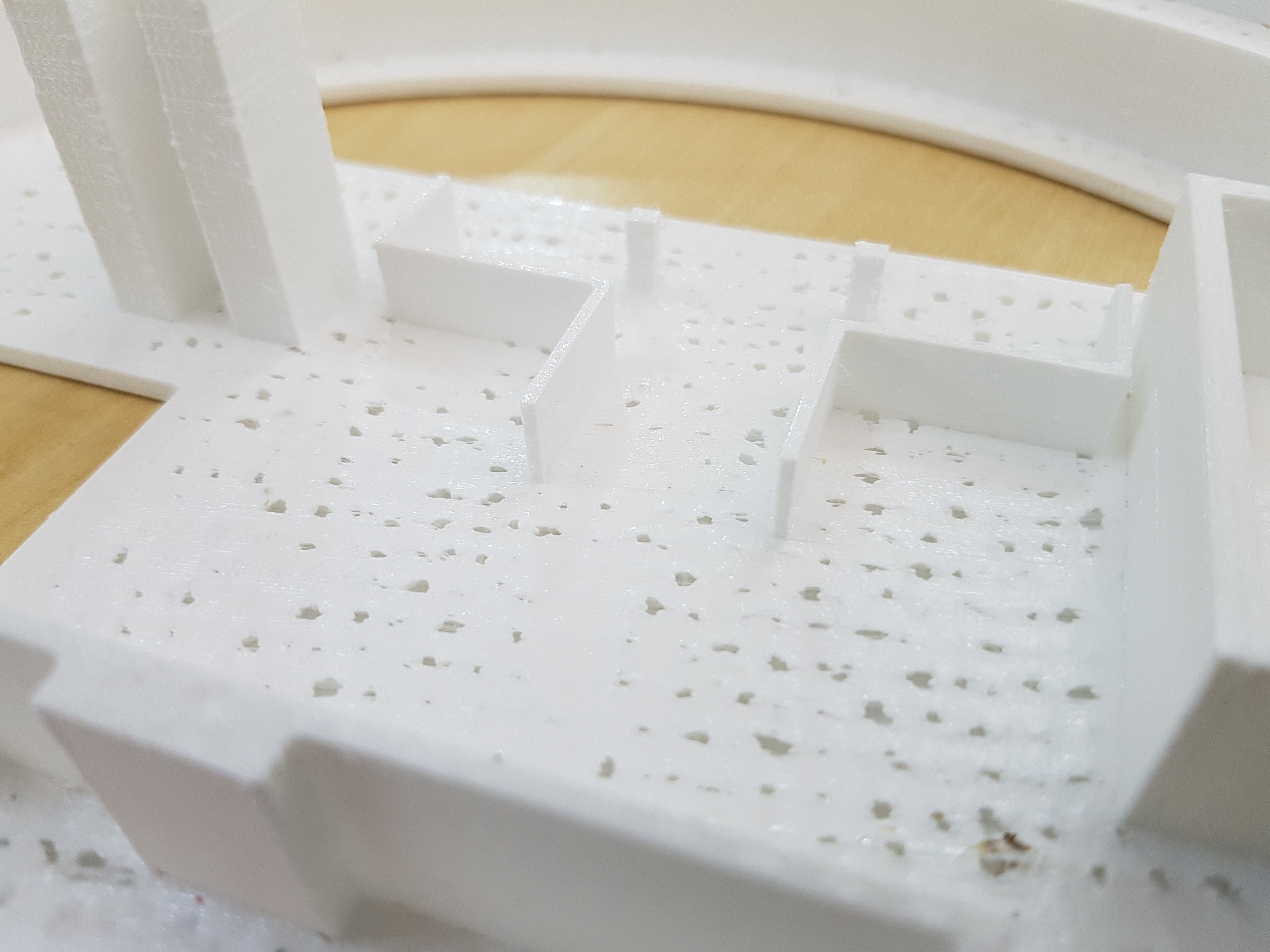 Example of 3D printed pillowing