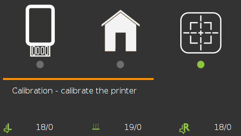 Leapfrog Creatr HS 3D printer new menu screenshot